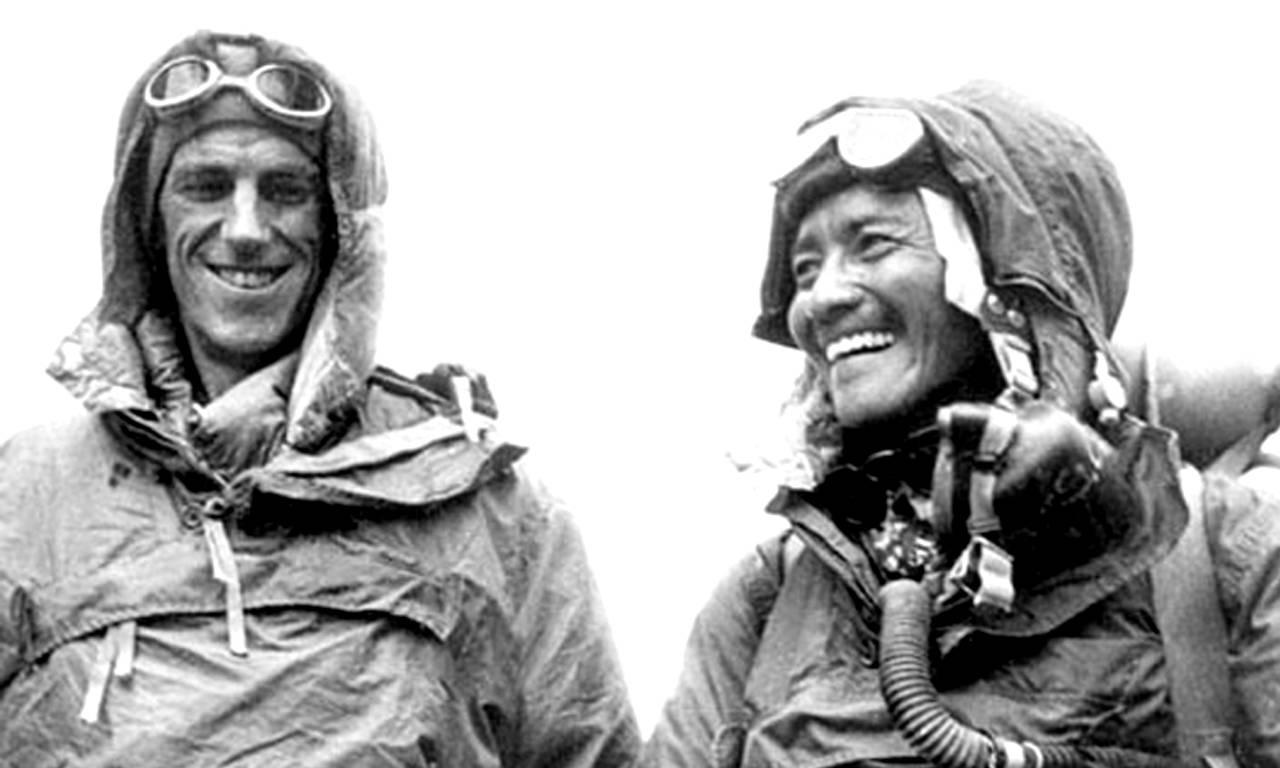 Перші підкорювачі Евересту. Едмунд Гілларі і Норгія Тенцінг
