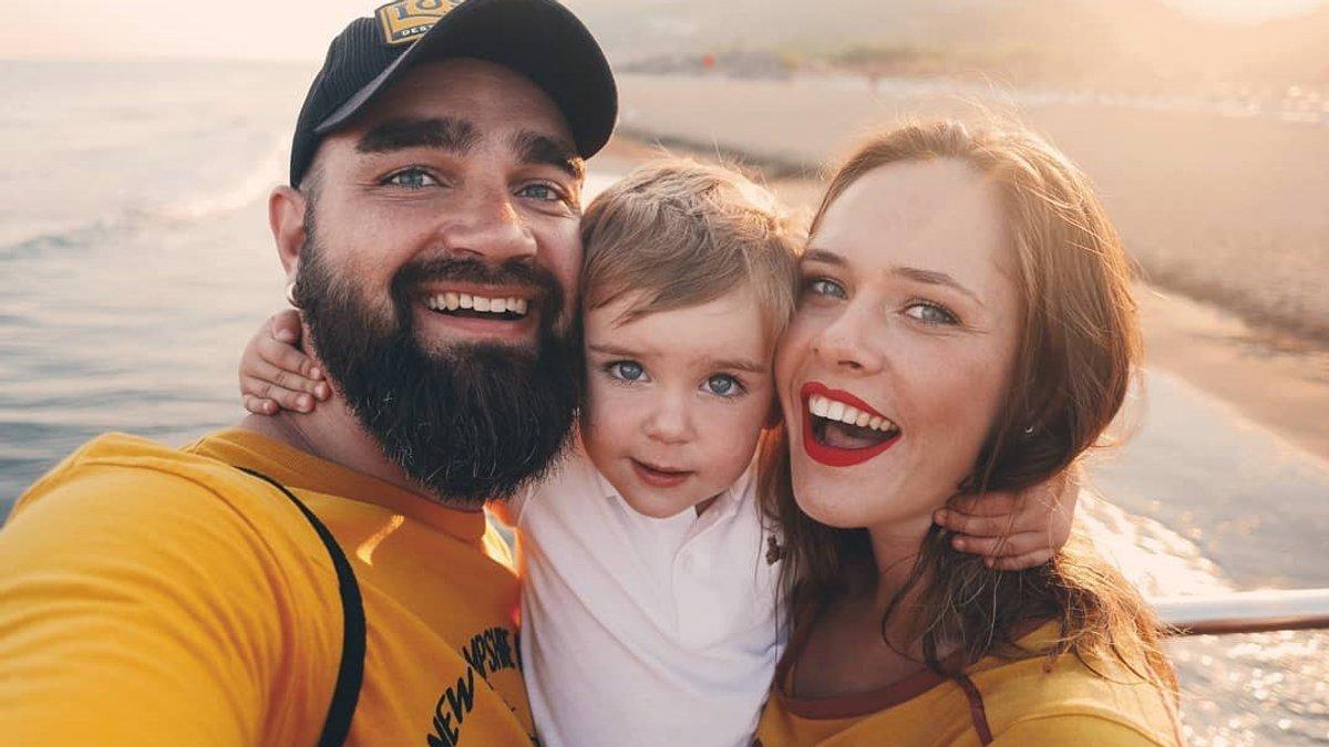 Юлія Саніна з сім'єю