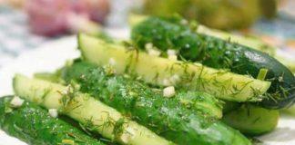Рецепт малосольних огірків