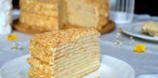 Торт на сковороді рецепт