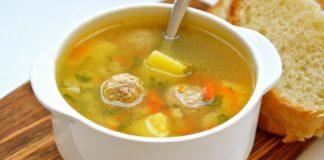 Картопляний суп з овочами і сирними галушками