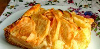 Вершково-яблучний пиріг рецепт