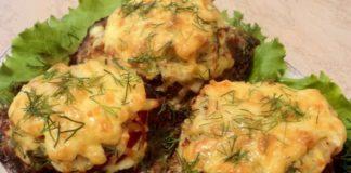 Котлети з сиром і грибами рецепт