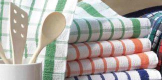 Метод, за яким можна відмити кухонні рушники