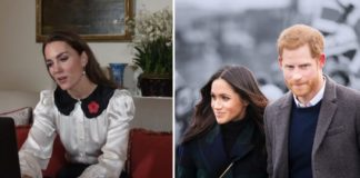 Члени королівської родини Кейт, Меган і Гаррі