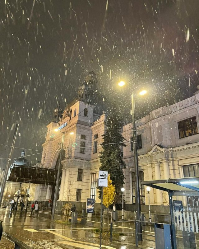 Перший сніг у Львові