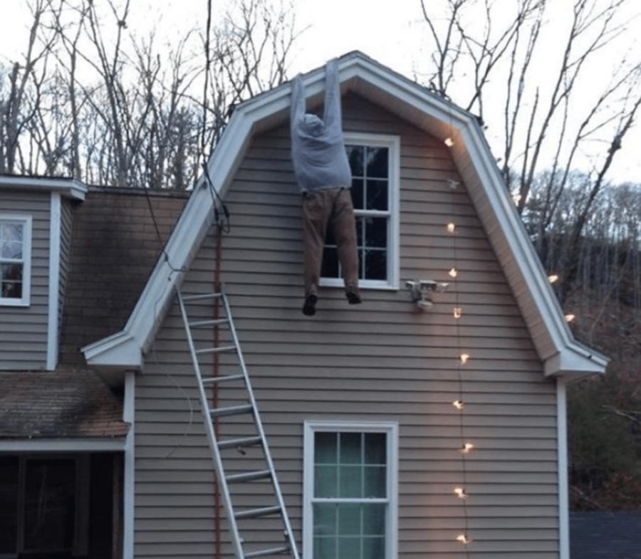 Декорація будинку до нового року