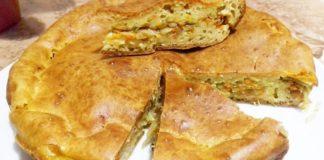 Заливний пиріг з капустою рецепт