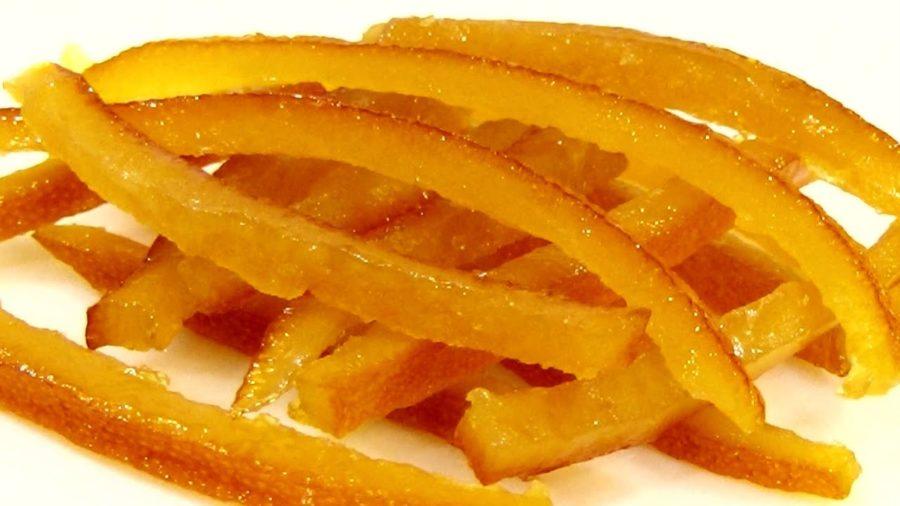 Смачний рецепт цукатів з апельсинової шкірки