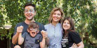 Родина президента України - син, дочка, дружина і сам Володимир