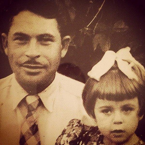 Любов Успенська з батьком