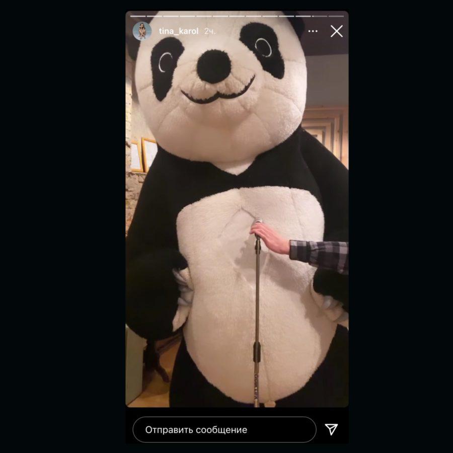 Невідомий виконавець у костюмі панди