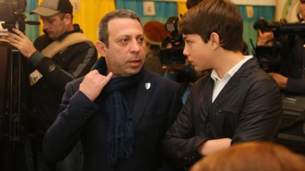 Геннадій Корбан з сином