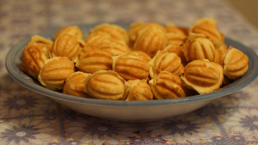 Печиво горішки зі згущеним молоком