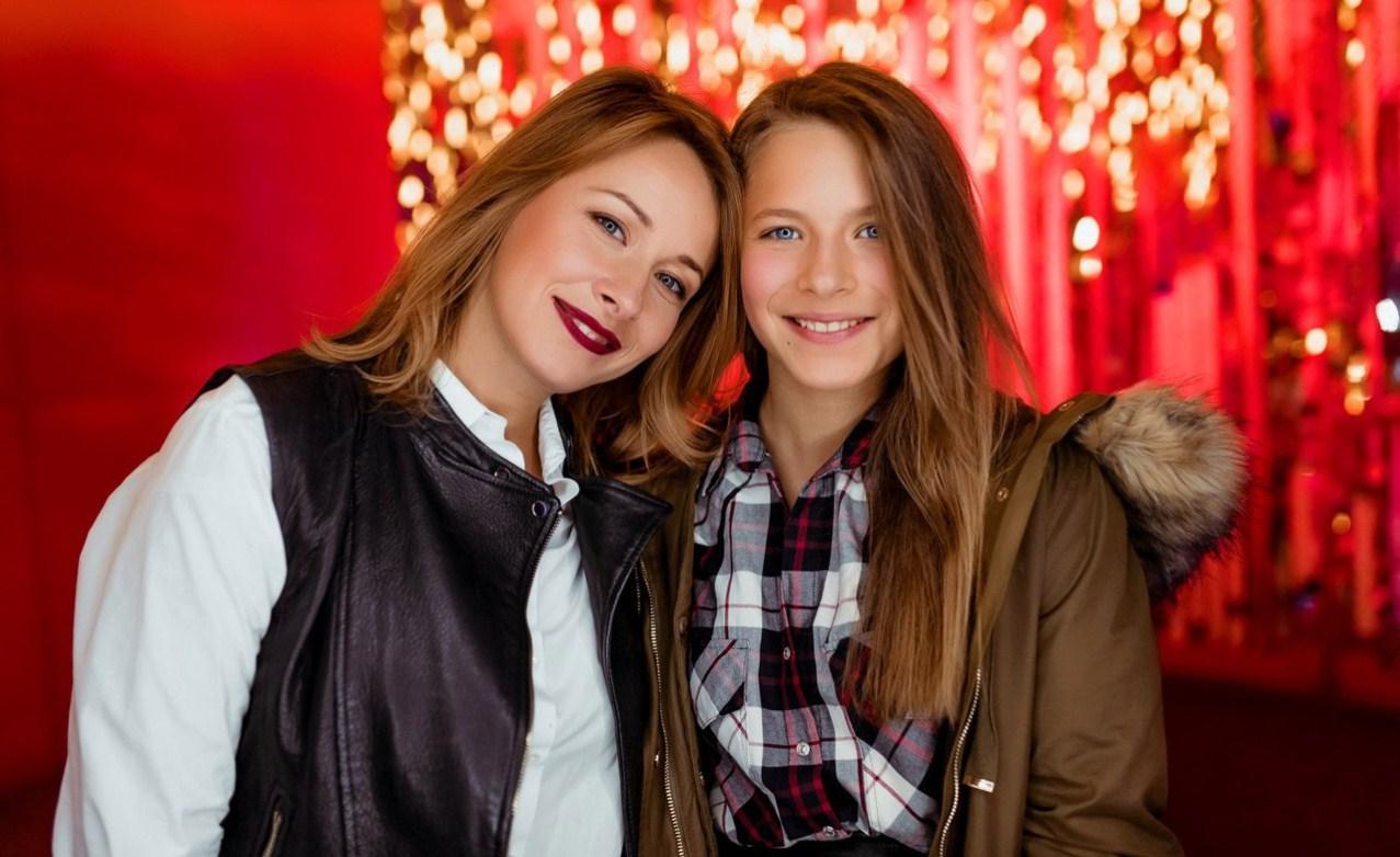 Олена Кравець з донькою Машею