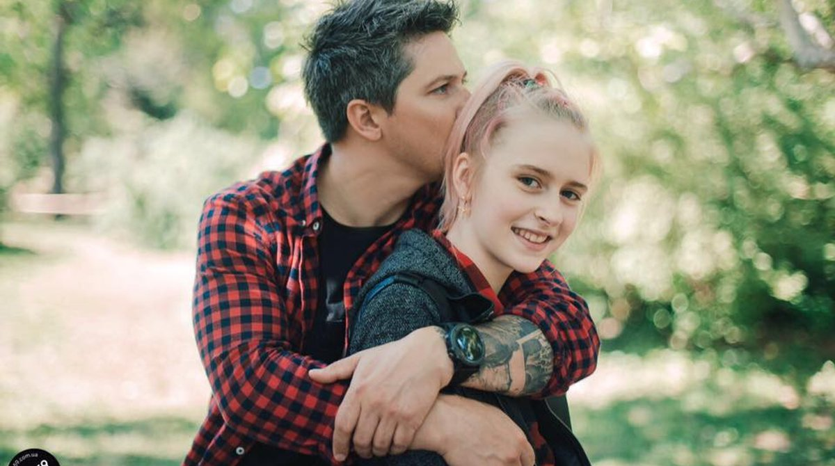 Олександр Педан з донькою Лерою
