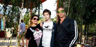 Наташа Корольова з родиною
