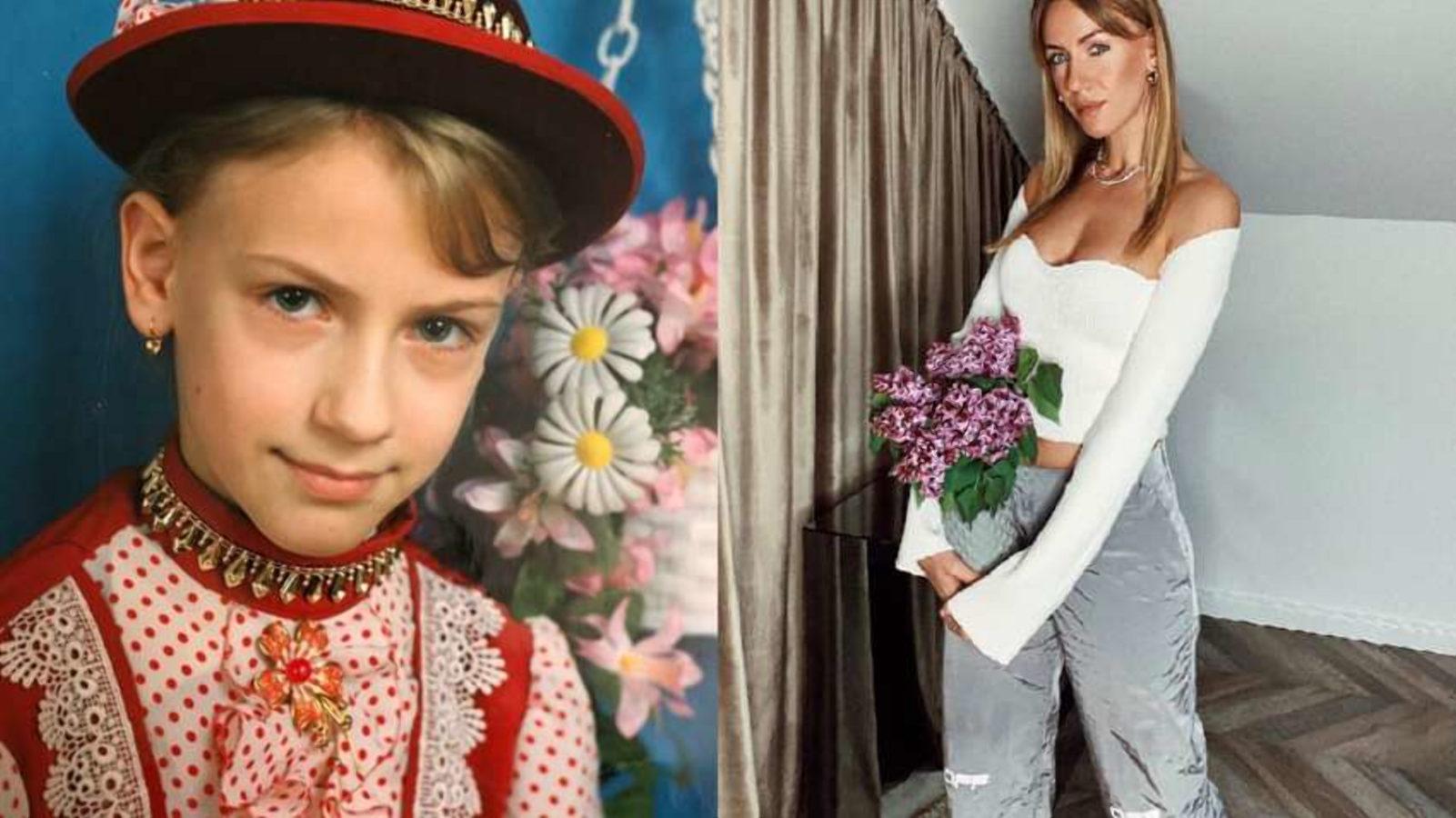 Леся Нікітюк в дитинстві і зараз