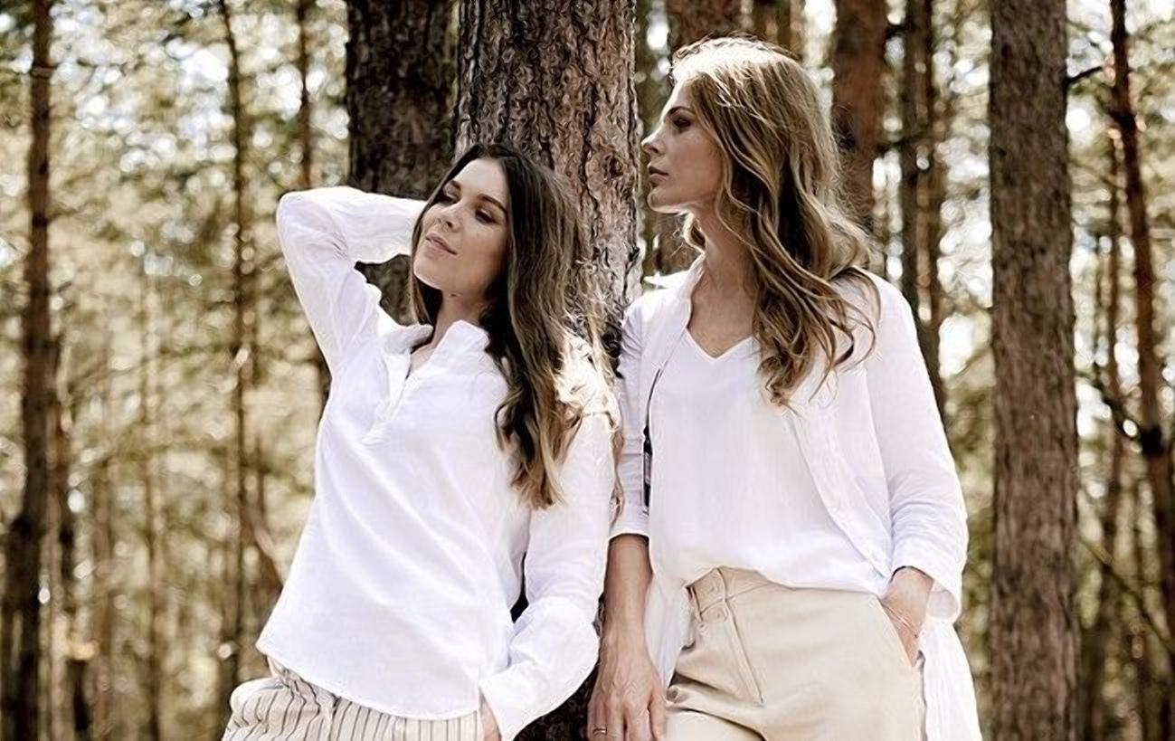 Ольга Фреймут з сестрою