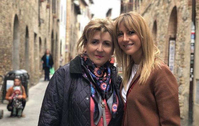 Леся Нікітюк з мамою Катериною Петрівною