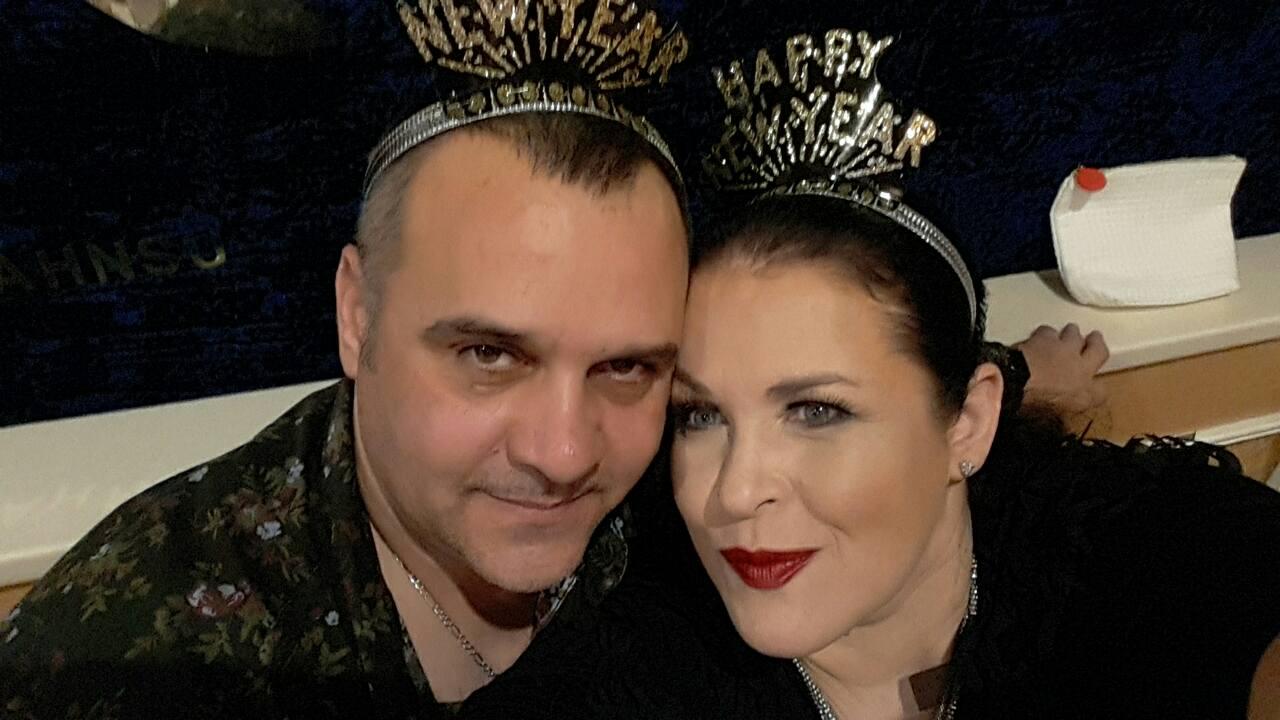 Руслана Писанка зі своїм чоловіком