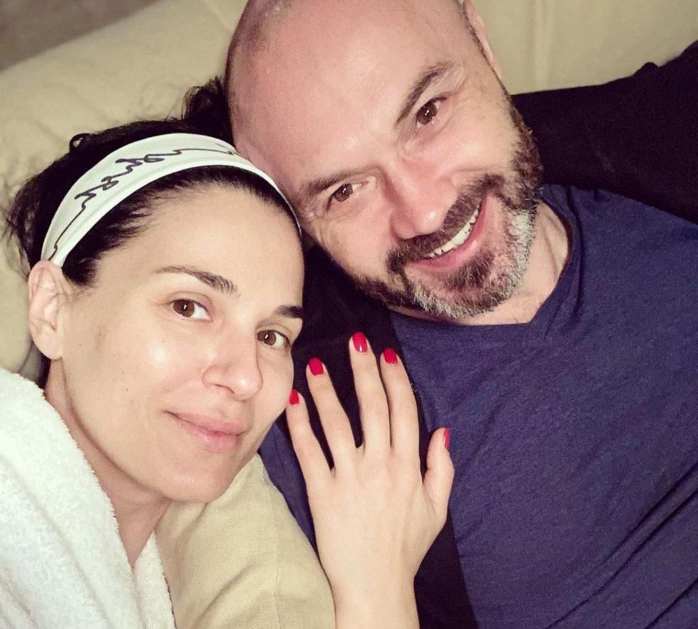 Маша Єфросиніна зі своїм чоловіком Тимуром Хромаєвим