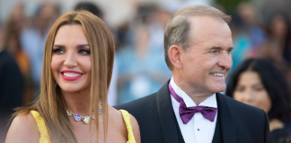 Оксана Марченко та Віктор Медведчук