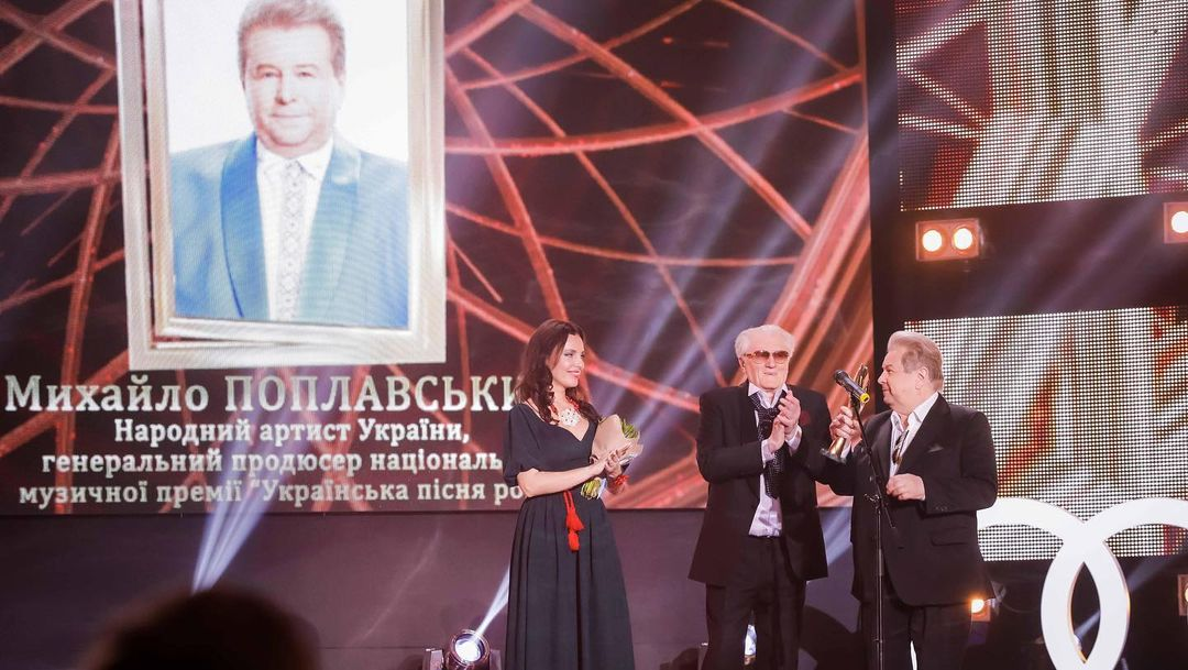 Михайло Поплавський на премії Людина року