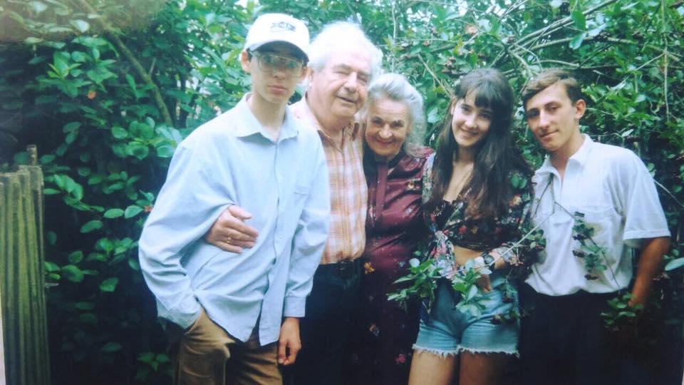 Соломія Вітвіцька з рідними в юності
