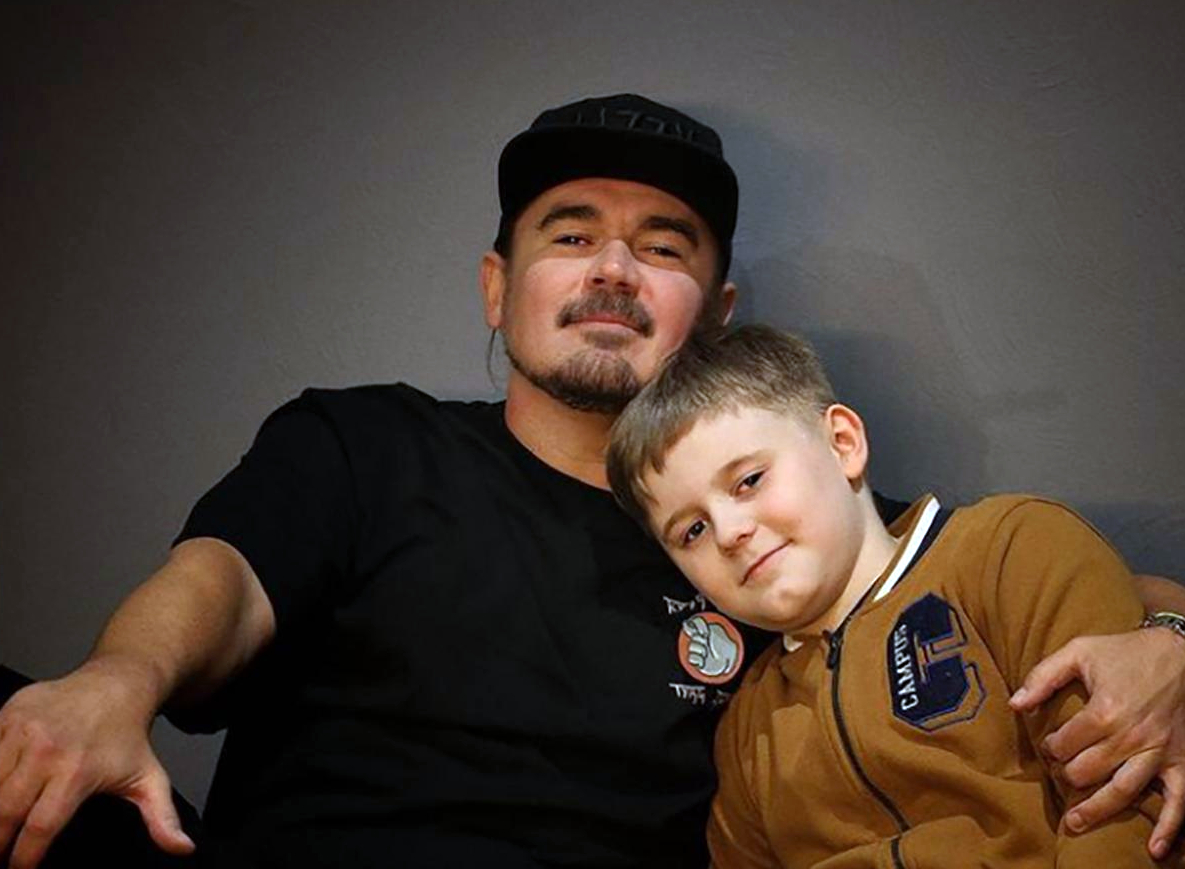 Олег Михайлюта з сином Микитою