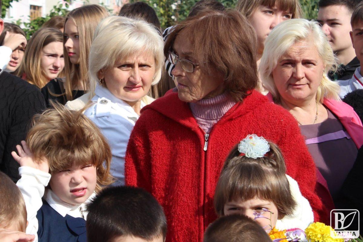 Валентина Підвербна і Анна-Марія на першому дзвонику