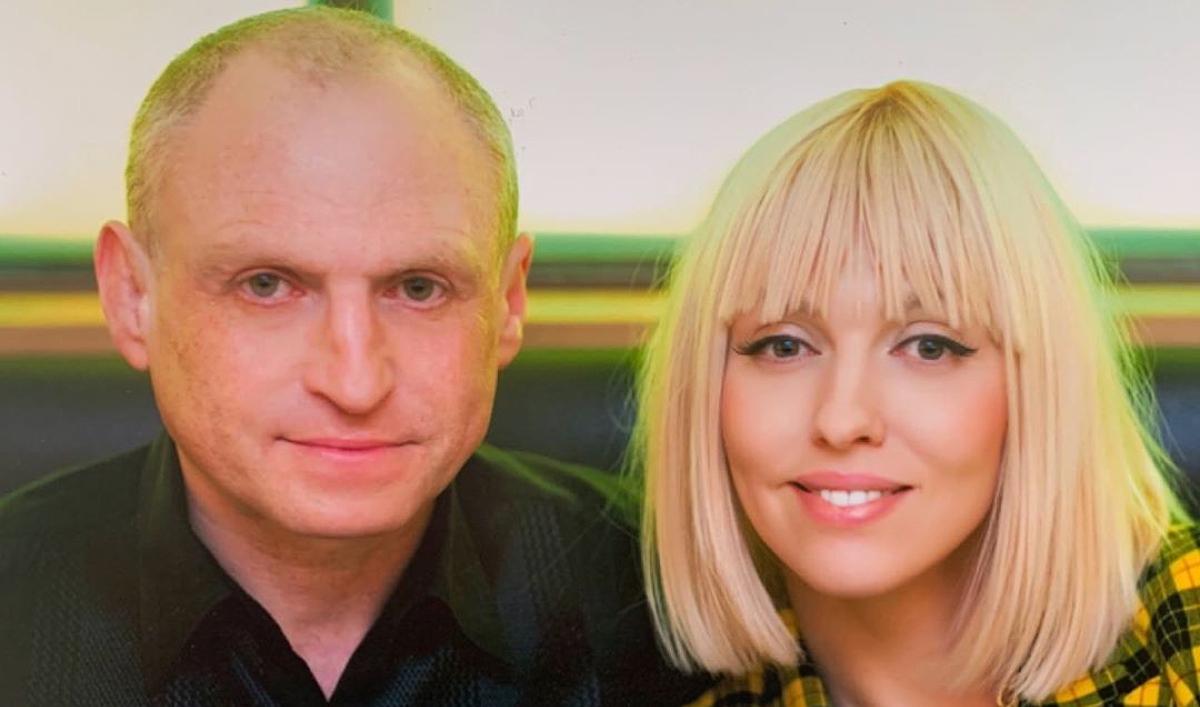 Оля Полякова зі своїм чоловіком Вадимом