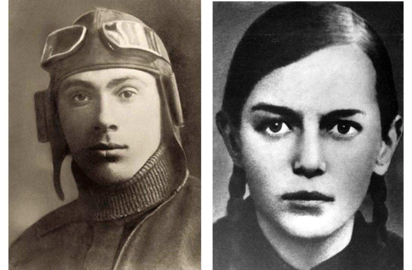 Микола Гастелло та Зіна Портнова