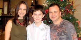 Віктор Павлік з колишньою дружиною та нині покійним синои