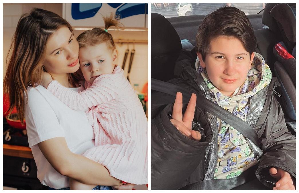 Анна Цуканова з дітьми