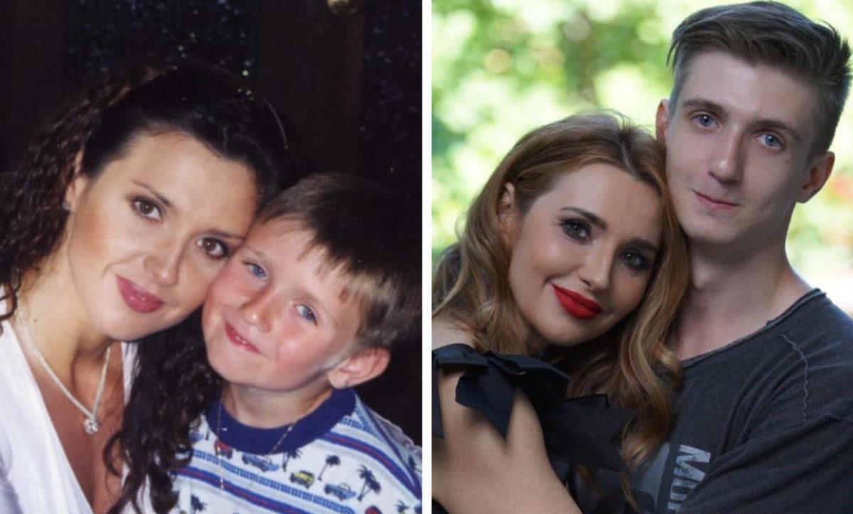 Оксана Марченко з сином Богданом