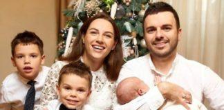 Христина та Григорій Решетніки з дітьми