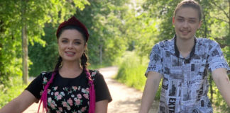 Наташа Корольова з сином Архипом