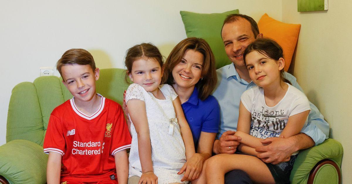 Марічко Падалко та Єгор Соболєв з дітьми