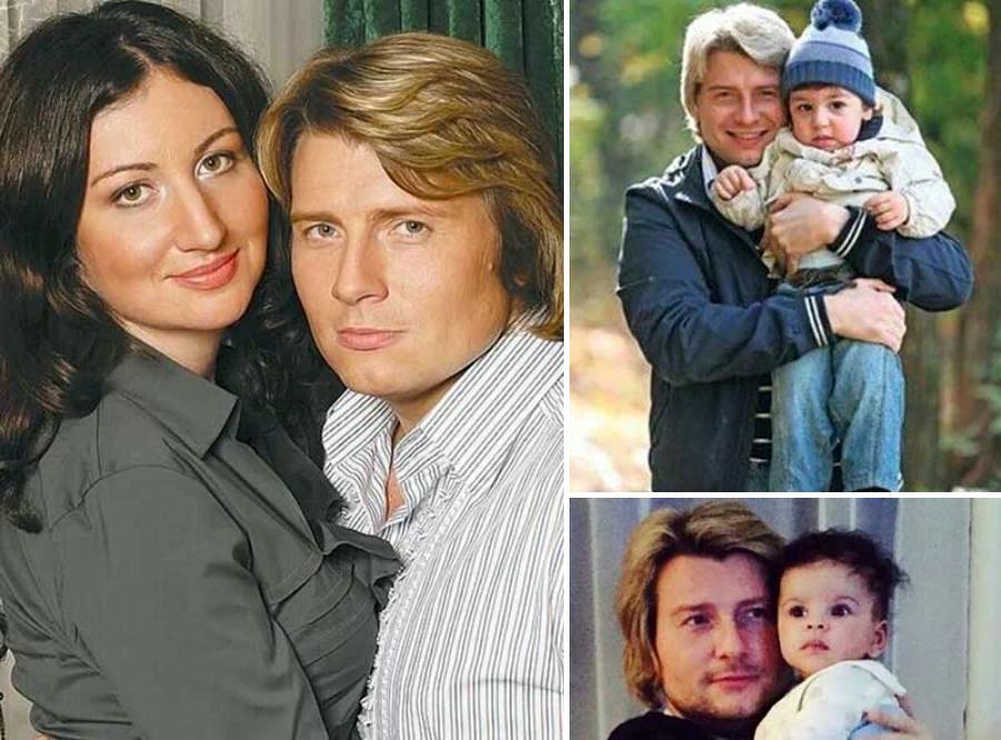 Микола Басков з колишньою дружиною та сином