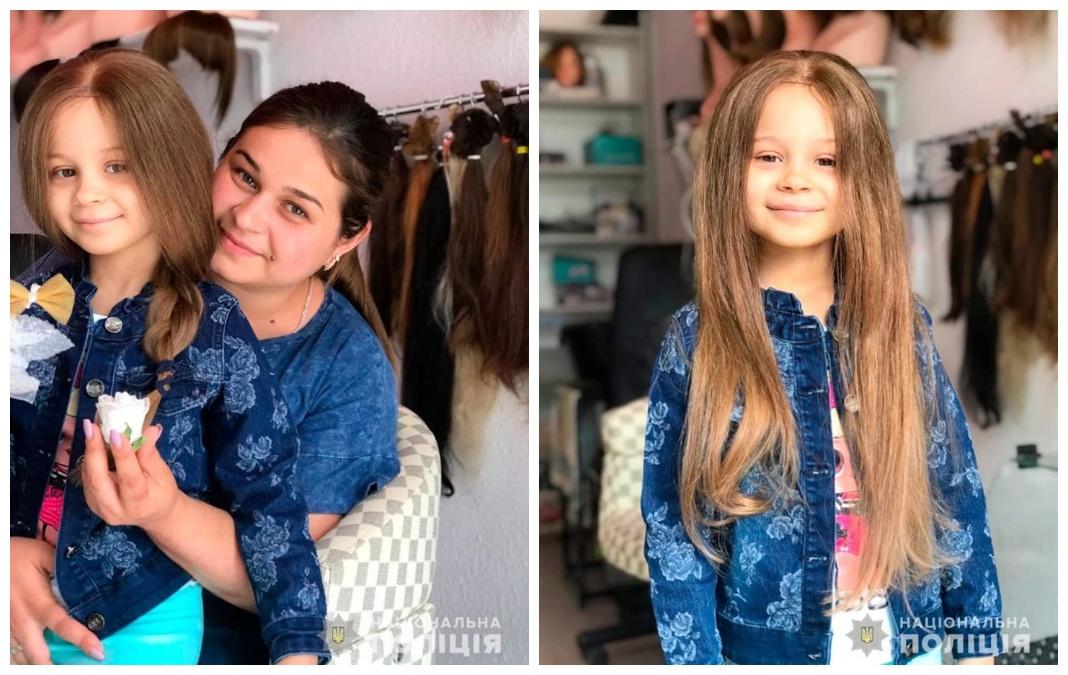 Дівчинка, яка отримала перуку з волосся Мар'яни