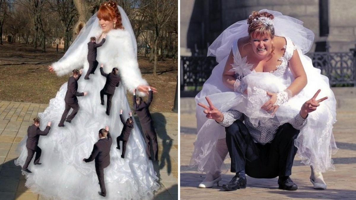 Дивні весільні фото, які не варто було виставляти в мережу
