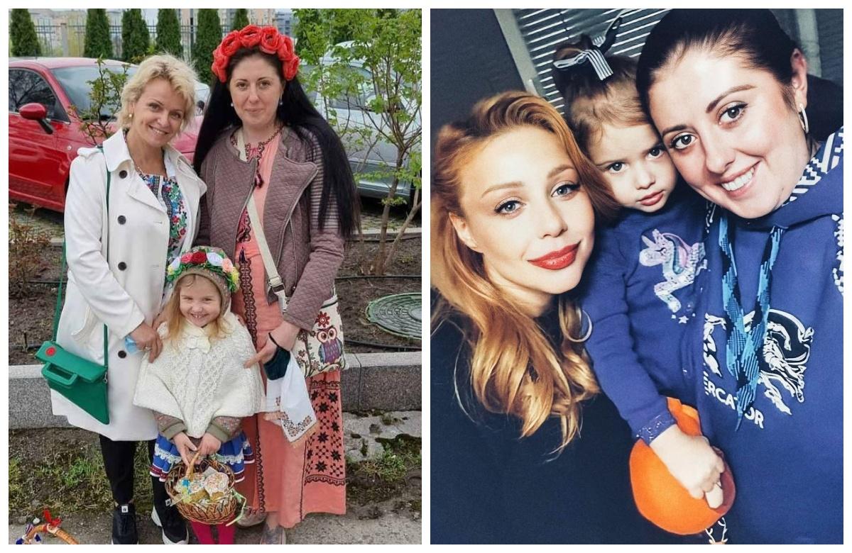Наталя з сестрою Ірмою, дочкою та зовицею ТІною Кароль