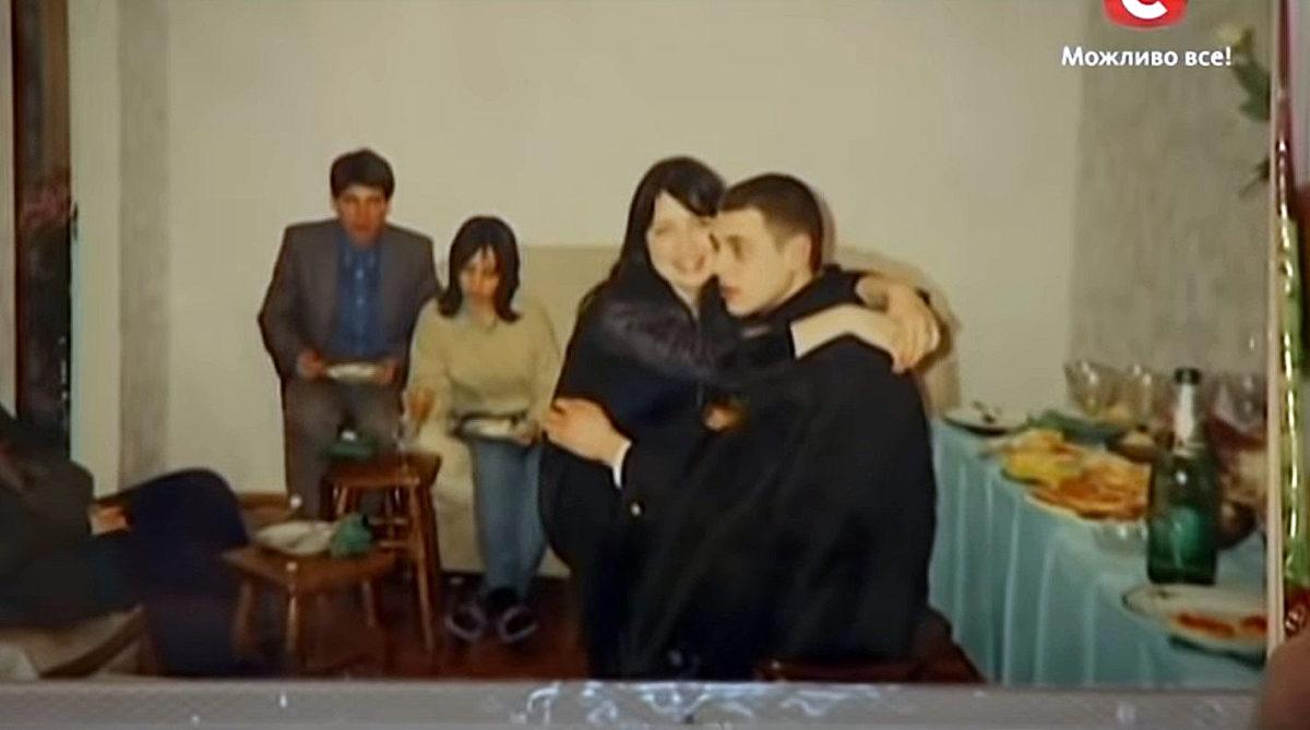 Євген Огір зі своїм першим коханням Оксаною