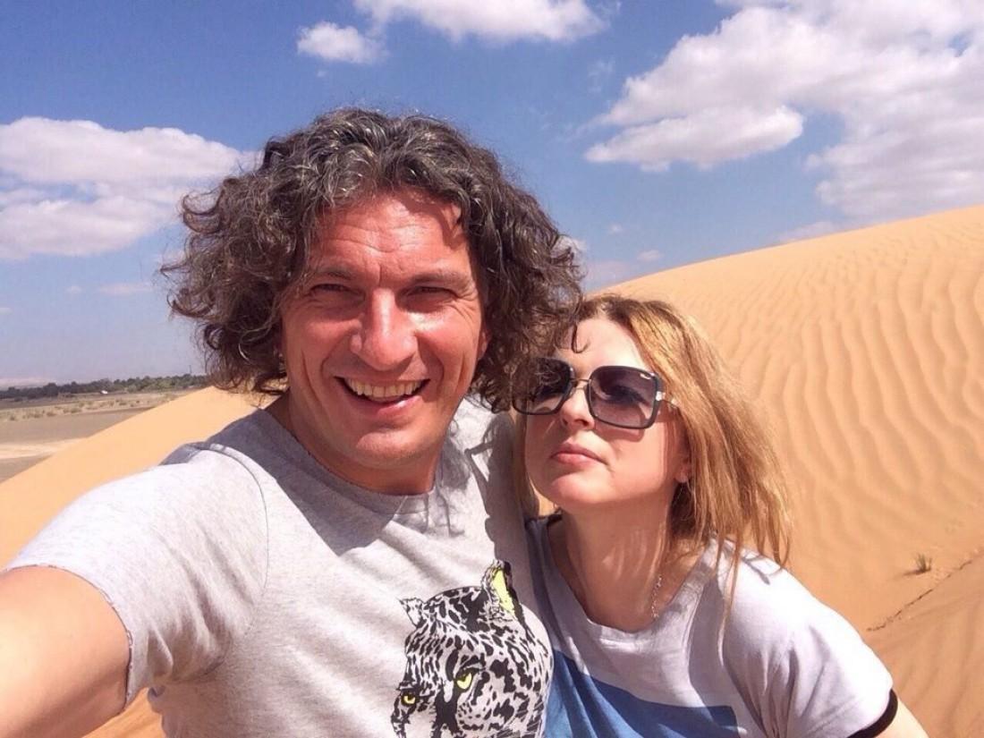 Андрій Кузьменко зі своєю дружиною Світлана