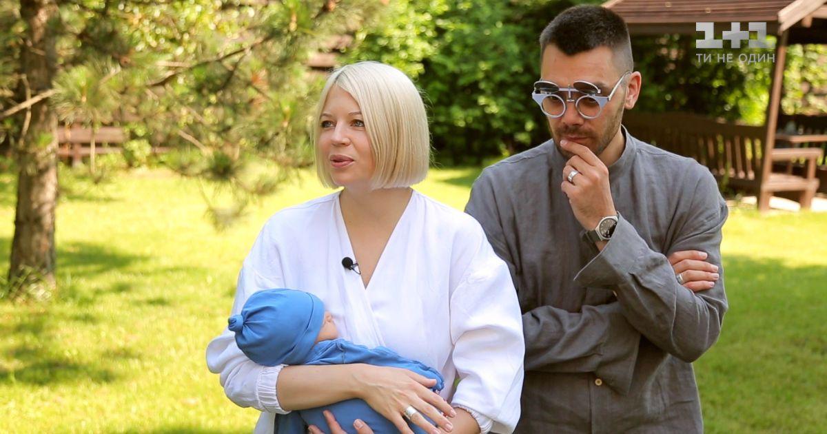 ONUKA з чоловіком та сином