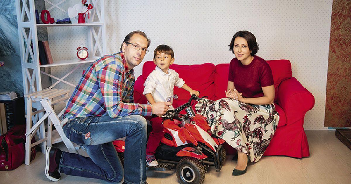 Наталія Мосейчук з чоловіком та молодшим сином