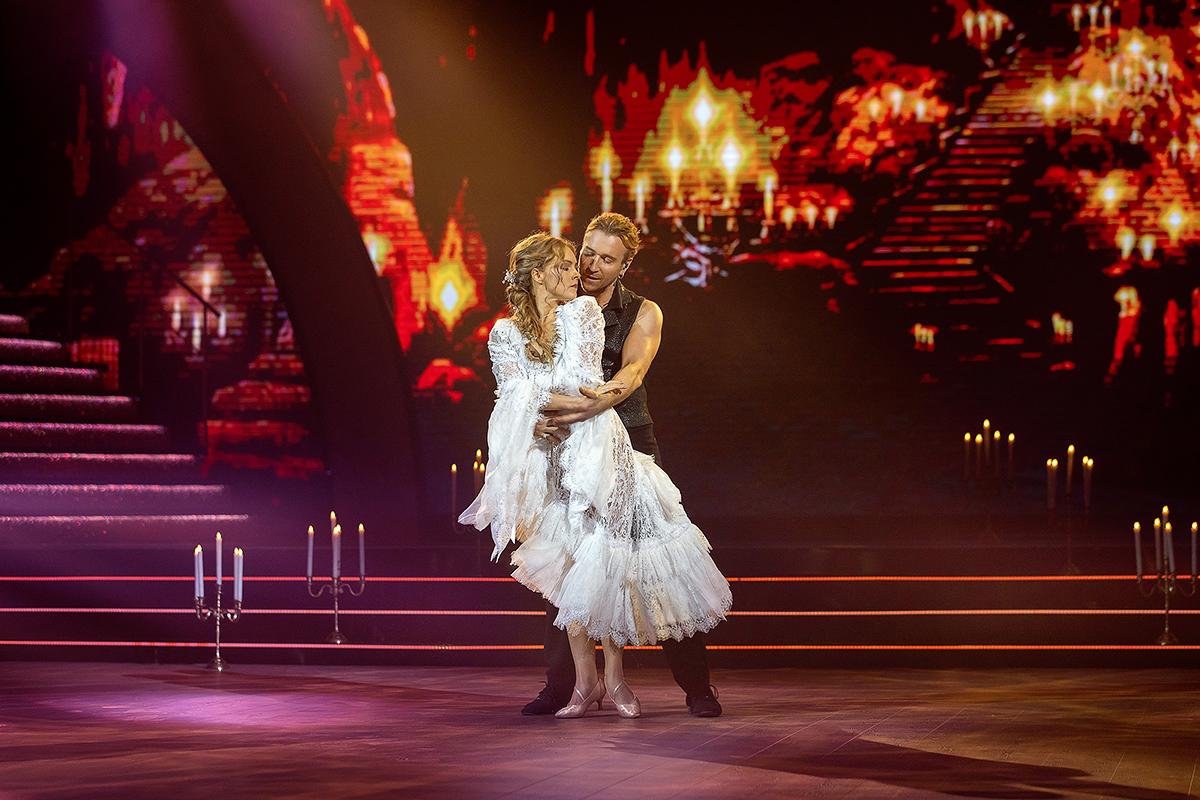 Олена Шоптенко та Олег Винник на паркеті Танців з зірками