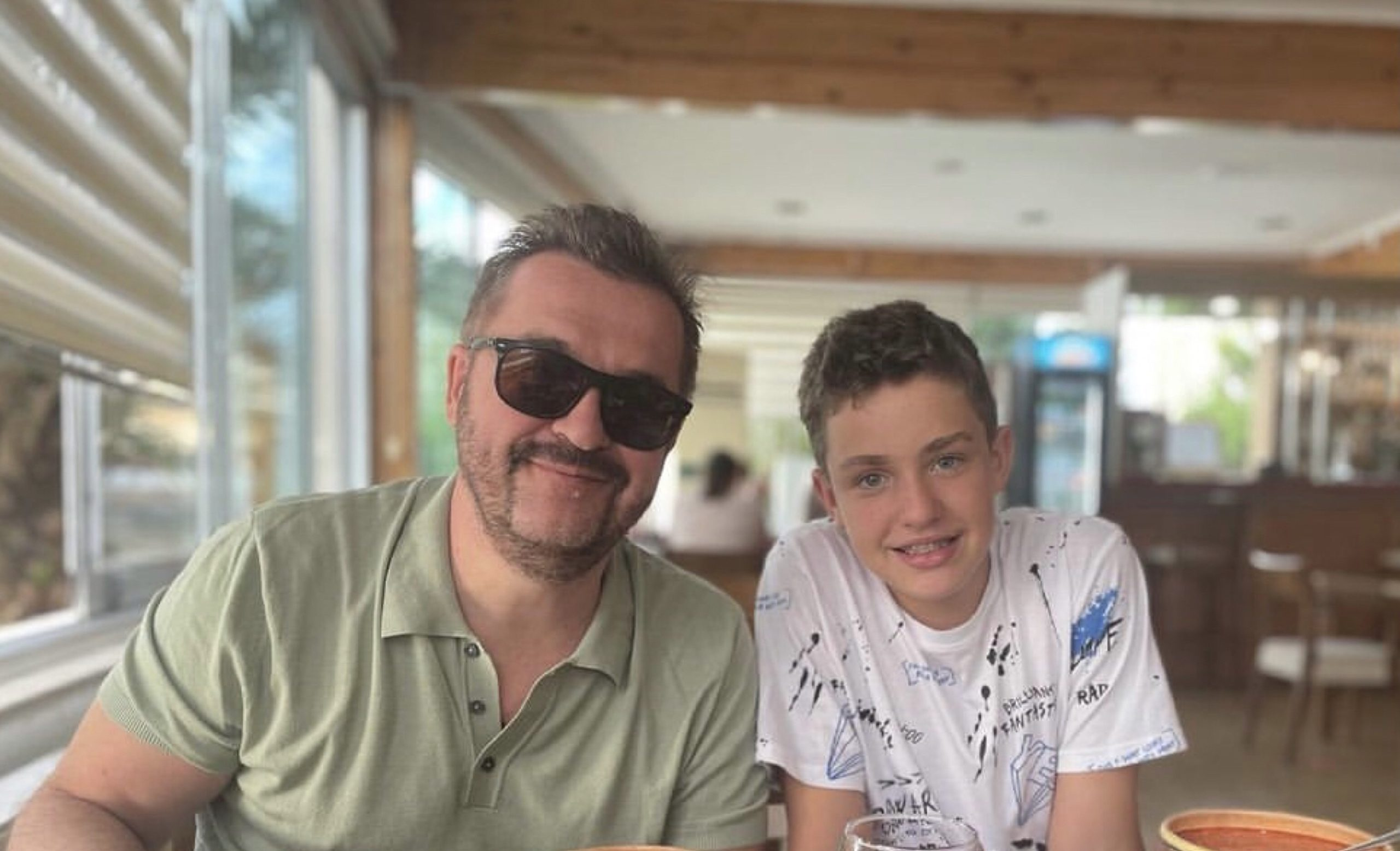 Олександр Пономарьов з сином