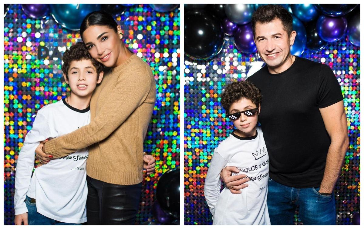 Санта Діпомулос і Андрій Джеджула з сином